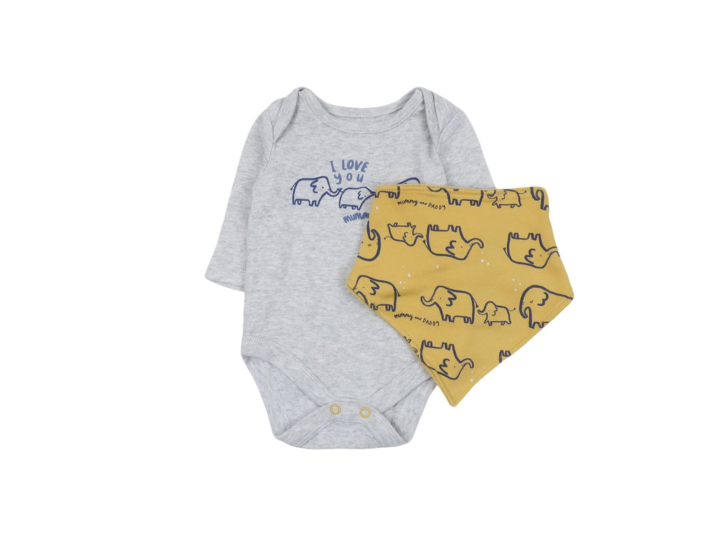 Mini Lama - Pre-loved Grey Bodysuit 1 month by MOTHERCARE