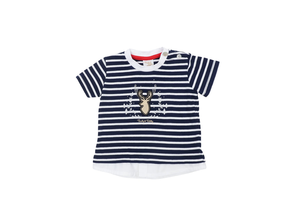 Mini Lama - Pre-loved Blue T-shirt 6 months by TRUDY & TEDDY