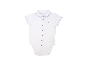 Mini Lama - Pre-loved White Bodysuit 12 months by CHÂTEAU DE SABLE