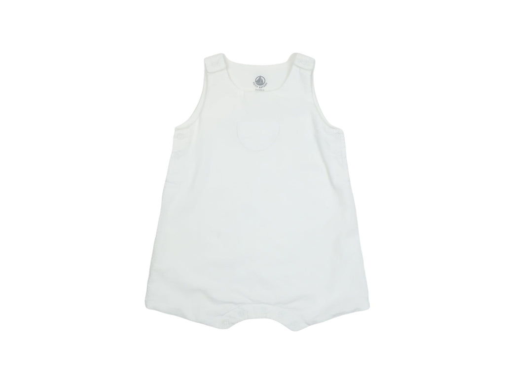 Mini Lama - Pre-loved White Overall 3 months by PETIT BATEAU