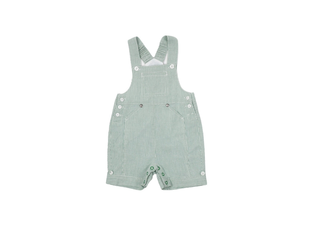 Mini Lama - Pre-loved Green Overall 6 months by CYRILLUS
