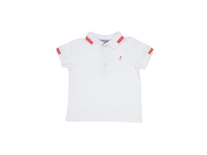 Mini Lama - Pre-loved White Polo 24 months by JACADI