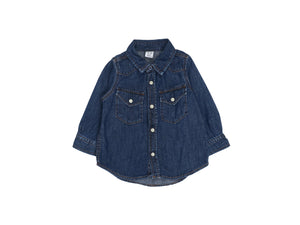 Mini Lama - Pre-loved Blue Shirt 12 months by GAP