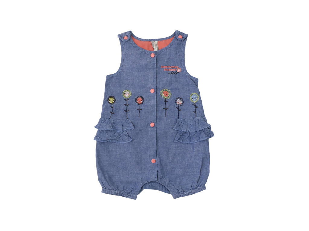 Mini Lama - Pre-loved Blue Romper 9 months by ORCHESTRA