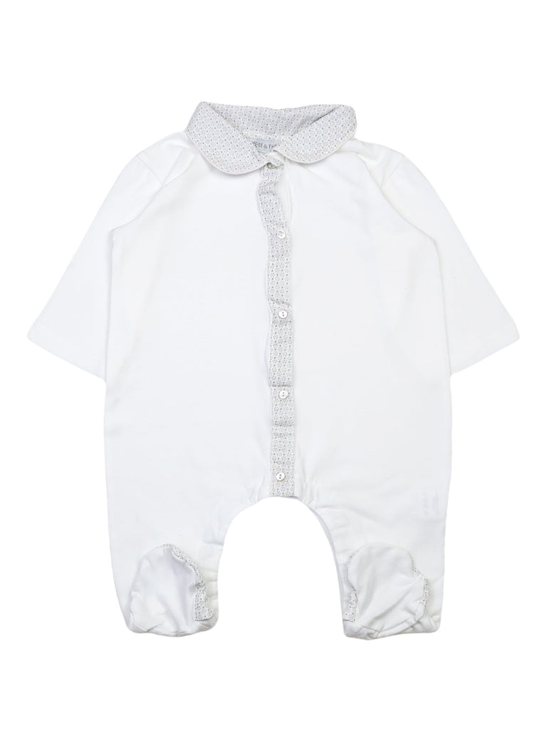 Mini Lama - Pre-loved White Pyjamas 12 months by ROSE & the sun