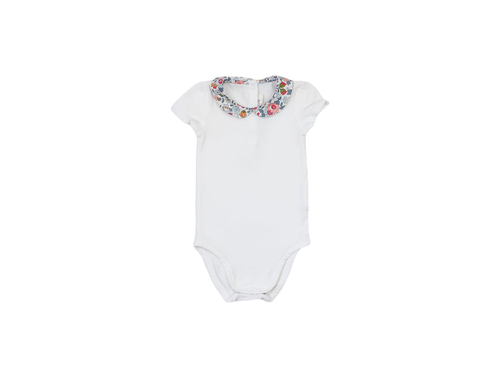 Mini Lama - Pre-loved White Bodysuit 6 months by CYRILLUS