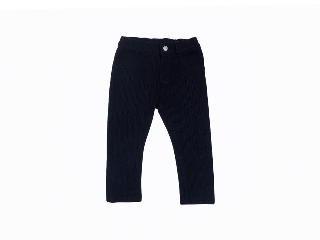 Mini Lama - Pre-loved Blue Trousers 12 months by PETIT BATEAU