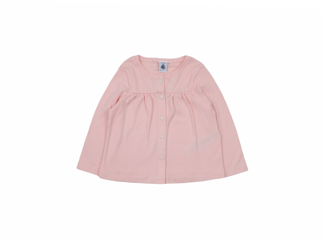 Mini Lama - Pre-loved Pink Cardigan 24 months by PETIT BATEAU
