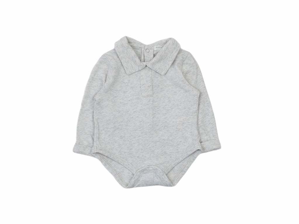 Mini Lama - Pre-loved Grey Bodysuit Newborn by HAPPYOLOGY