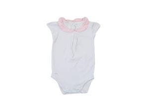 Mini Lama - Pre-loved White Bodysuit 6 months by CHÂTEAU DE SABLE