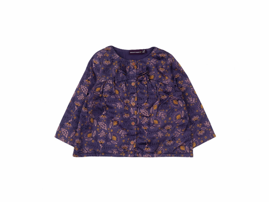 Mini Lama - Pre-loved Purple Blouse 9 months by SERGENT MAJOR