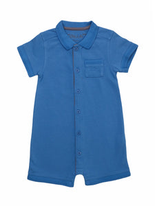 Mini Lama - Pre-loved Blue Romper 12 months by CHÂTEAU DE SABLE