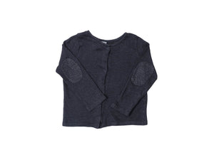 Mini Lama - Pre-loved Grey Cardigan 3 years by PETIT BATEAU