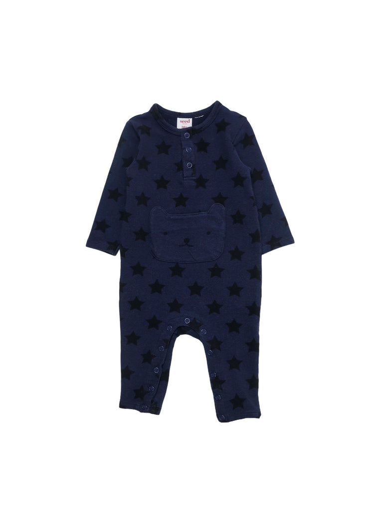 Mini Lama - Pre-loved Blue Pyjamas 3 months by SEED