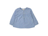 Mini Lama - Pre-loved Blue Blouse 24 months by ZARA
