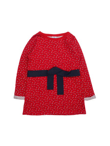 Mini Lama - Pre-loved Red Dress 3 years by PETIT BATEAU