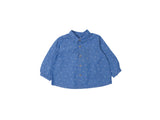 Mini Lama - Pre-loved Blue Shirt 12 months by BONPOINT