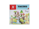 Pre-loved Wooden toy Forest Animal Building Blocks 12 months by TAUNO
