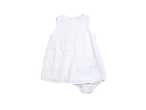 Mini Lama - Pre-loved White Dress 3 months by THE LITTLE WHITE COMPANY