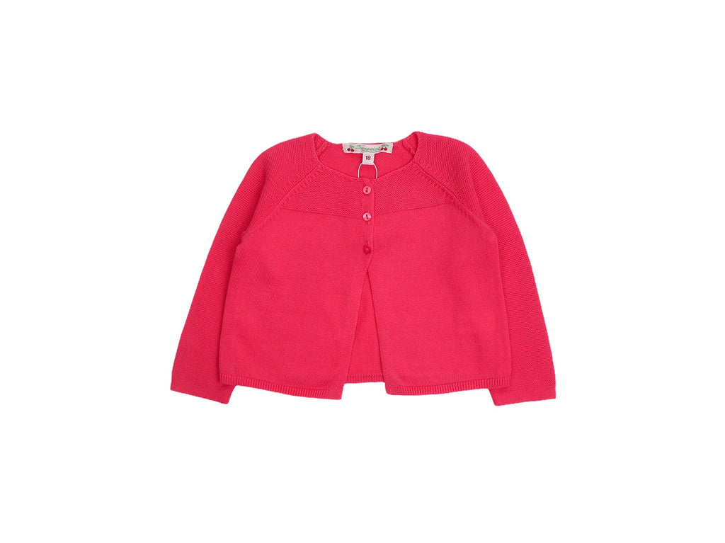 Mini Lama - Pre-loved Pink Cardigan 18 months by BONPOINT