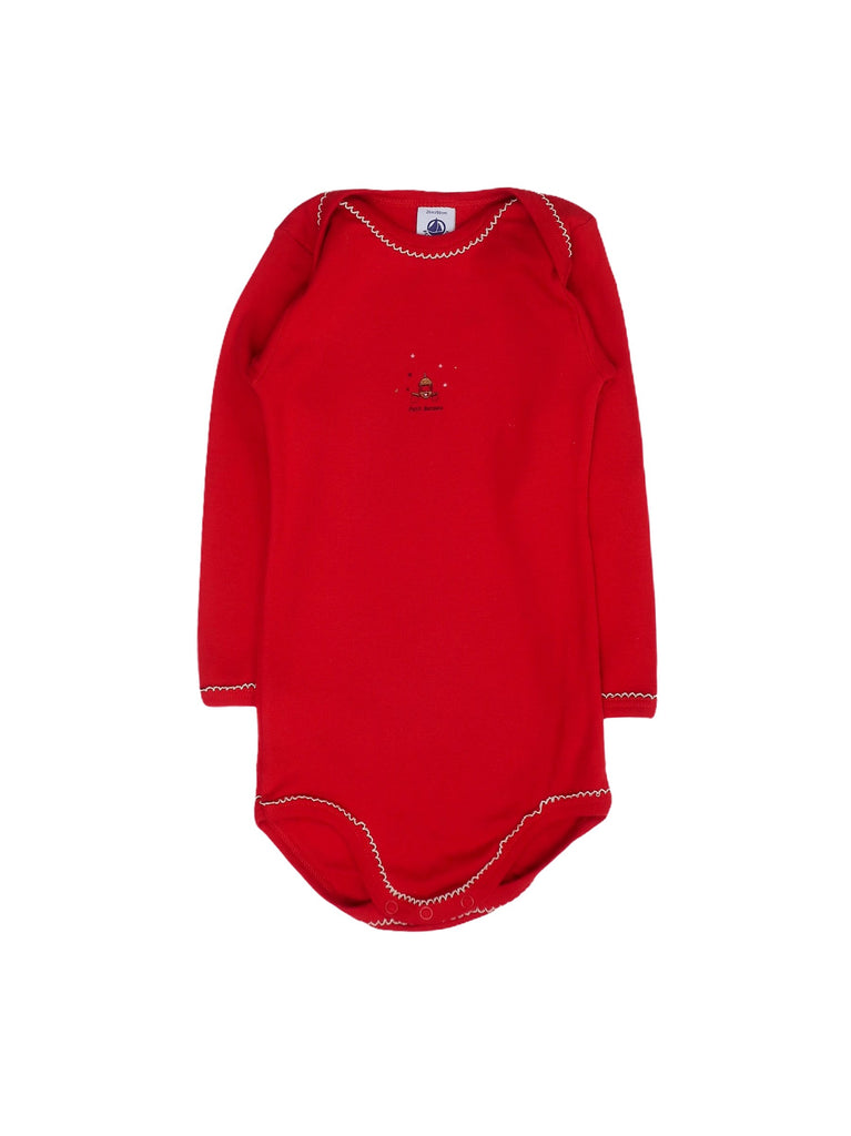 Mini Lama - Pre-loved Red Bodysuit 24 months by PETIT BATEAU