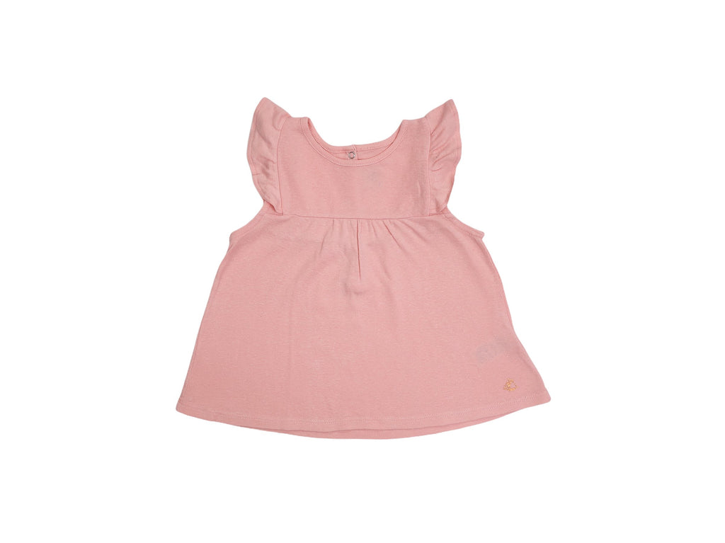 Mini Lama - Pre-loved Pink T-shirt 3 years by PETIT BATEAU