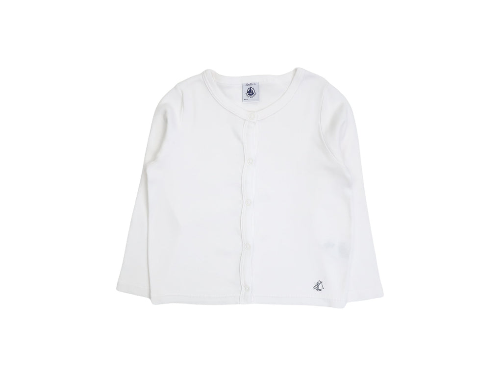 Mini Lama - Pre-loved White Cardigan 24 months by PETIT BATEAU