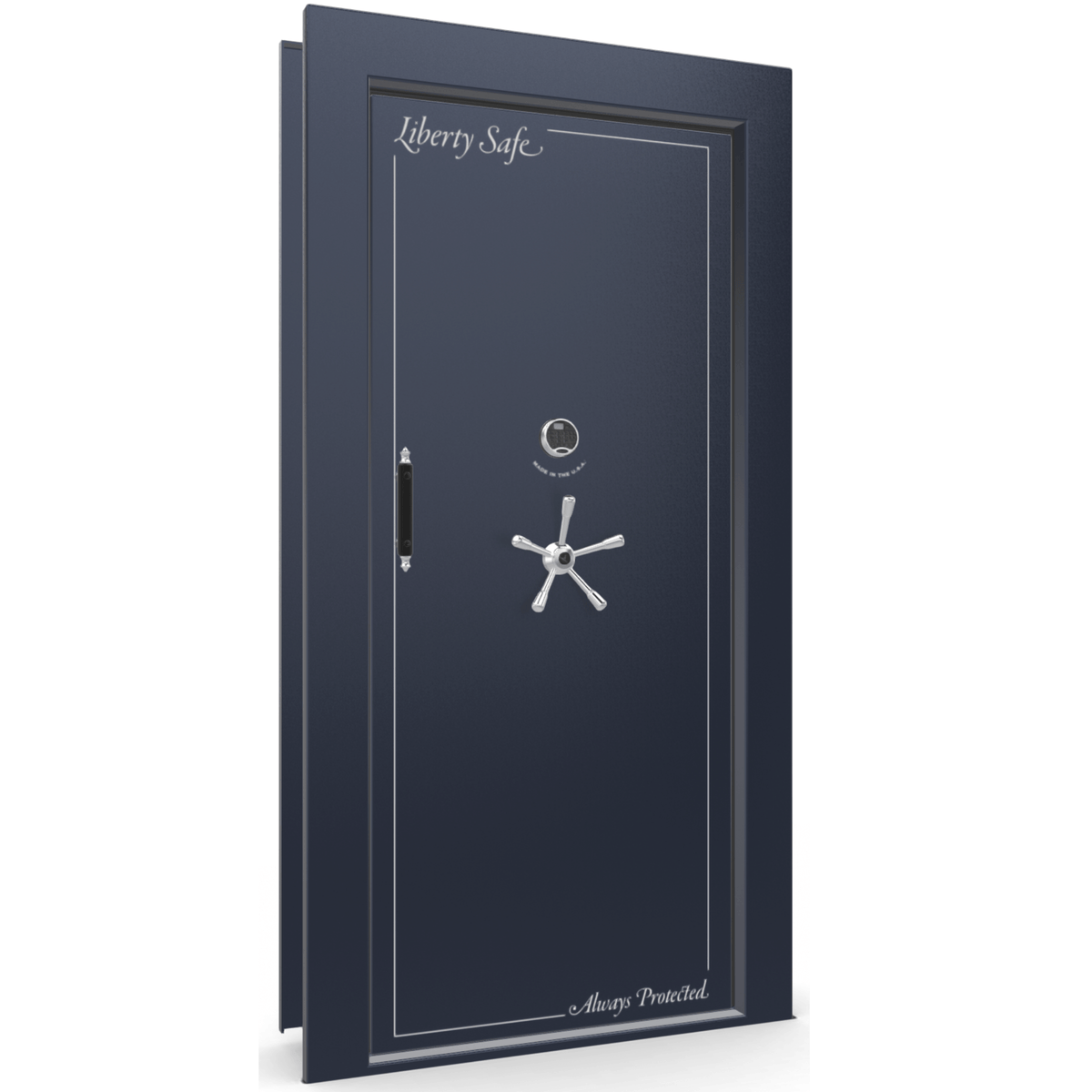 Vault Door Series | In-Swing | Left Hinge | Blue Gloss | Mechanical Lock