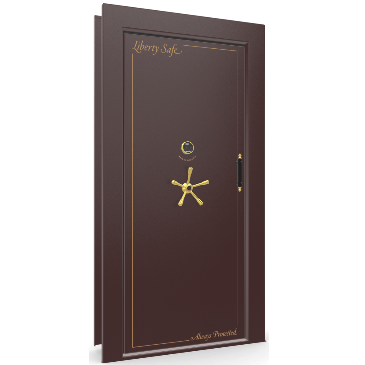 Vault Door Series | Out-Swing | Right Hinge | White Marble | Mechanical Lock