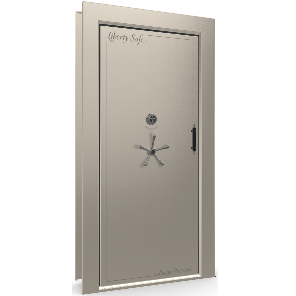 Vault Door Series | Out-Swing | Left Hinge | White Marble | Mechanical Lock