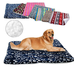 Winter Dog Bed Blanket Soft Fleece Pet Sleeping Bed Cover Mats Warm Sofa Cushion Mattress For Small Large Dogs Cats Cama Perro - HiPawsy