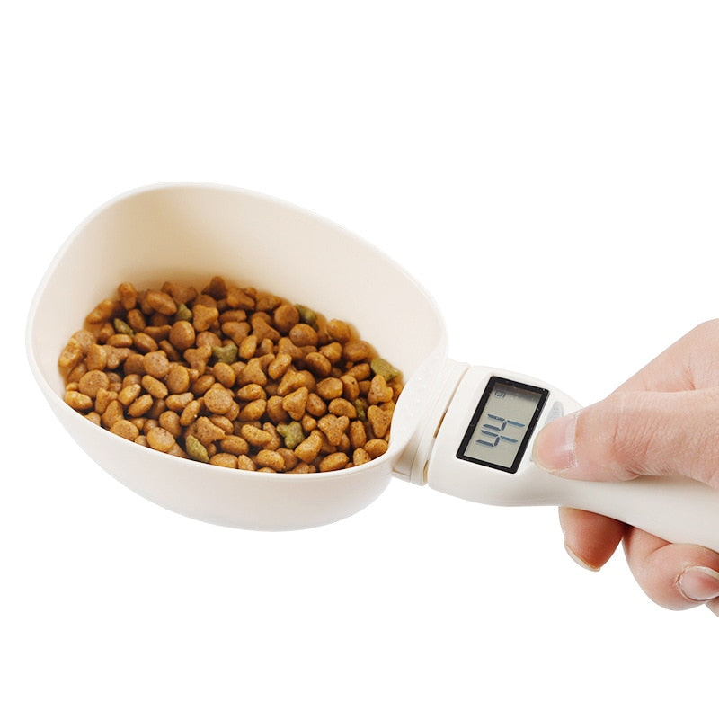 800g/1g Pet Food Scale Cup For Dog Cat Feeding Bowl Kitchen Scale Spoon Measuring Scoop Cup Portable With Led Display - HiPawsy