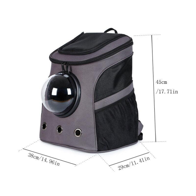 Large Pet Backpack Portable Space Capsule Breathable Window - HiPawsy