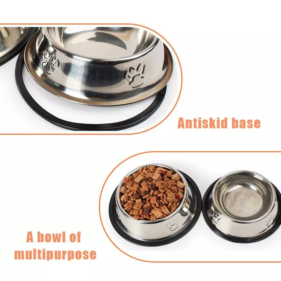 SUPREPET Stainless Steel Non-slip Feeding Bowl For Pets Anti-fall And Anti-bite Dog Bowl And Cat Anti-fall Feeding Bowl - HiPawsy
