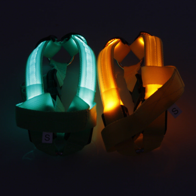 Nylon Pet Safety LED Harness - HiPawsy
