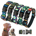 Personalized Dog Collar Nylon Custom Pet Dog Tag Collars Printed Plaid Puppy Nameplate ID Collars For Medium Large Dogs Engraved - HiPawsy