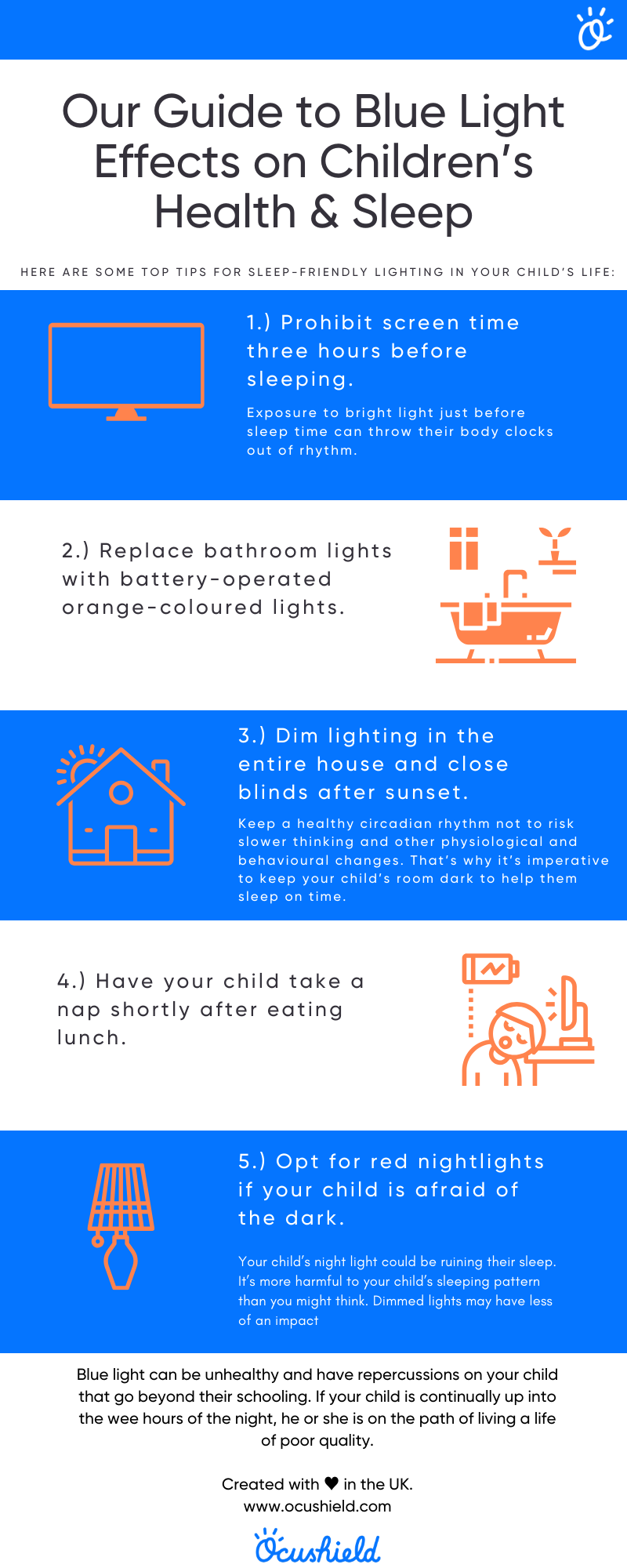 Infographic - blue light and childrens health