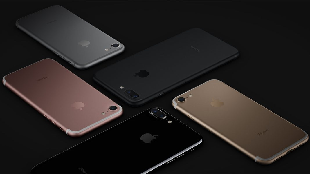 The iPhone 7 different models and exterior, iphone 7 blue screen