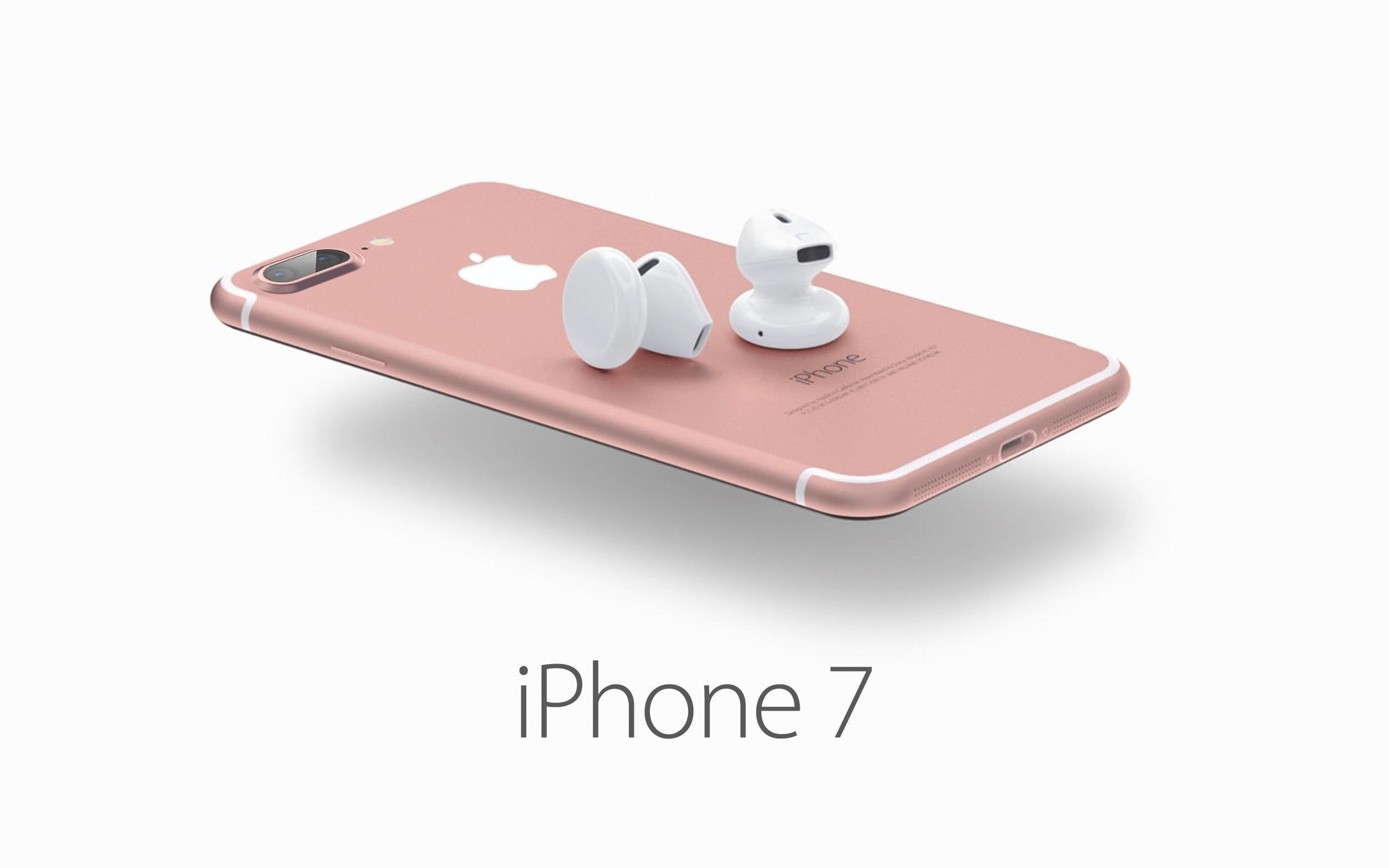 The new iPhone 7 pink, iphone 7 blue screen