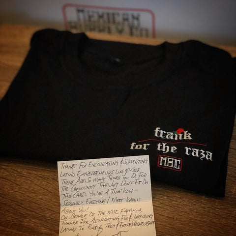 "Frank's ""Thank You"" Letter - Mexican Supply Co."