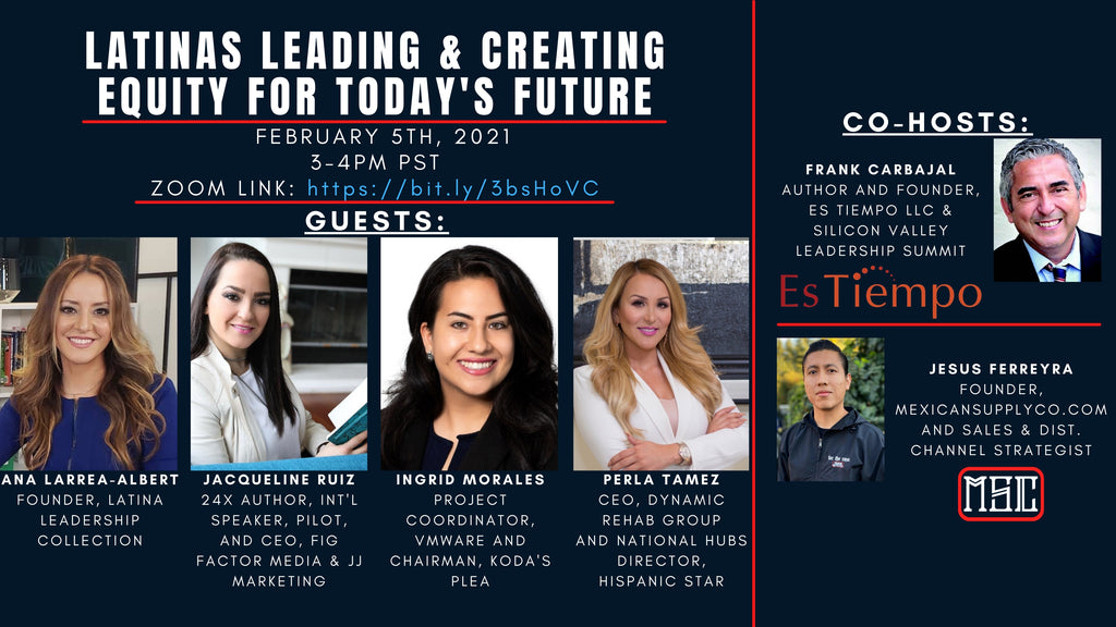 """Latinas Leading & Creating Equity for Today's Future"" Updated Zoom Flyer"