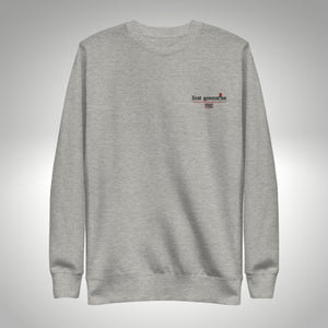 FIRST GENERATION EMBROIDERED CREW NECK GRAY