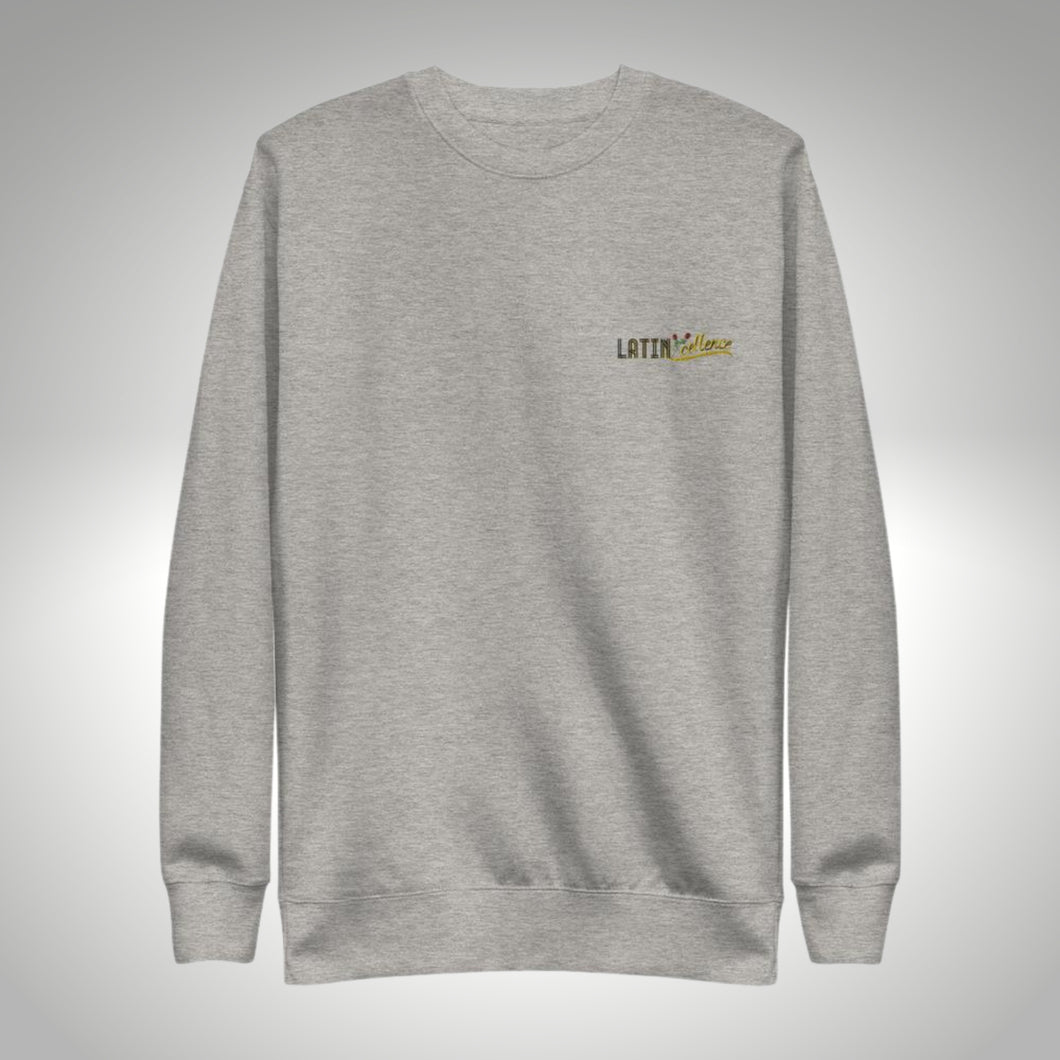 LatinXcellence Embroidered Crew Neck - Carbon Gray