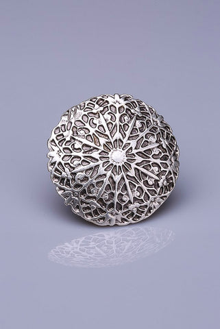 Silver Plated Magnetic Brooch - Karma