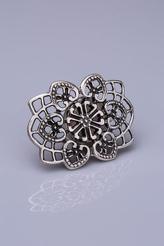 Silver Plated Magnetic Brooch - Nurai