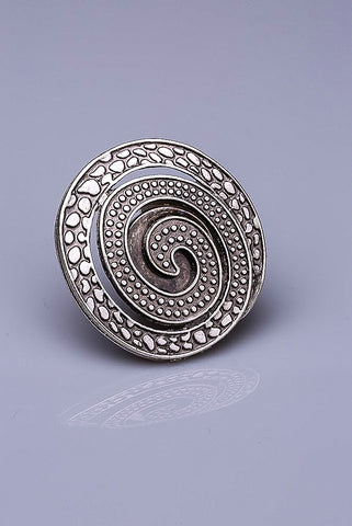 Silver Plated Magnetic Brooch - Jada