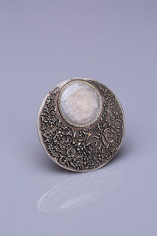 Silver Plated Magnetic Brooch - Luna