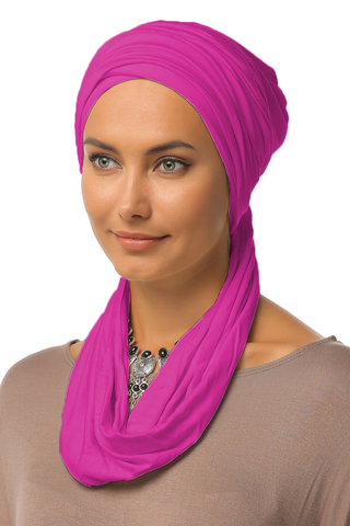 3 Layers Turban - Hot Pink - Gingerlining
