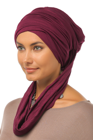 3 Layers Turban - Wine - Gingerlining