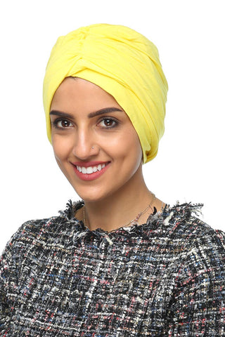 Simple Drape Turban - Sunflower Yellow - Gingerlining (477319561254)